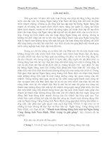 BÁO CÁO THỰC TẬP TỐT NGHIỆP: THỰC TRẠNG VÀ GIẢI PHÁP THANH TOÁN KHÔNG DÙNG TIỀN MẶT - NGUYỄN VĂN THANH