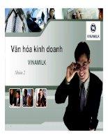 thuyết minh văn hóa kinh doanh công ty vinamilk