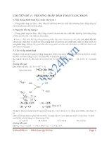 Tài liệu CHUYÊN ĐỀ 4 : PHƯƠNG PHÁP BẢO TOÀN ELECTRON pdf