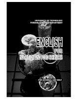 Tài liệu ENGLISH FOOD AND NUTRITION pdf