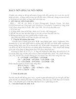Tài liệu Kỹ thuật nén ảnh - BÀI 5- NÉN JPEG VÀ NÉN MPEG pdf