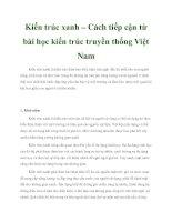 Tài liệu Kiến trúc xanh – Cách tiếp cận từ bài học kiến trúc truyền thống Việt Nam pptx