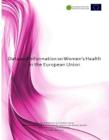 Tài liệu Data and Information on Women's Health in the European Union docx