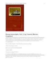 Tài liệu Ave Roma Immortalis, Vol. 2 Studies from the Chronicles of Rome pdf