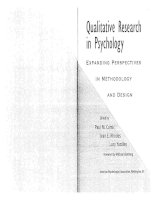 Tài liệu Qualitative Research in Psychology: Expanding Perspectives in Methodology and Design pptx