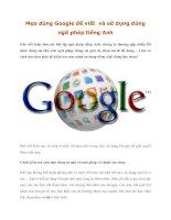 Tài liệu Mẹo dùng Google để viết và sử dụng đúng ngữ pháp tiếng Anh doc