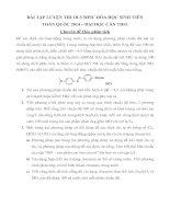 bài tập luyện thi olymic hóa học sinh viên 2014-đại học Cần Thơ