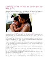 Tài liệu Cân nặng của trẻ khi chào đời có liên quan với bệnh tự kỷ docx
