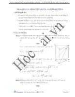 Bài toán lăng trụ biết góc giữa đường thẳng và mặt phẳng LTĐH