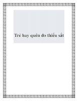 Tài liệu Trẻ hay quên do thiếu sắt pdf