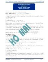 Đề thi thử đại học lần 4 - 2013 môn Toán