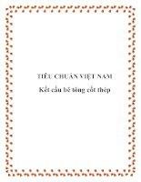 Tài liệu Tiêu chuẩn Việt Nam:Kết cấu bê tông cốt thép pdf
