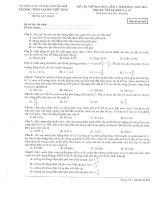 Đề thi thử đại học lần 1 - 2014 môn Vật lý THPT Lương Thế Vinh Hà Nội - Đề thi