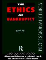 Tài liệu The ethics of bankruptcy pdf