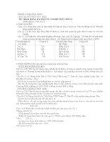 Tài liệu Đề Thi Thử Tốt Nghiệp Địa Lý 2013 - Phần 1 - Đề 15 docx