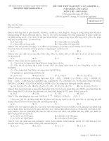 Tài liệu Đề thi thử Đại học 2012 mã đề 132 ppt