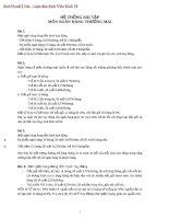Tài liệu Hệ thống bài tập môn ngân hàng thương mại pdf