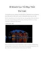 Tài liệu 10 Khách Sạn Nổi Đẹp Nhất Thế Giới pdf