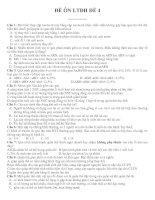 Tài liệu ĐỀ ÔN LUYỆN THI ĐẠI HỌC ĐỀ SỐ 4 - Môn Sinh HọC potx