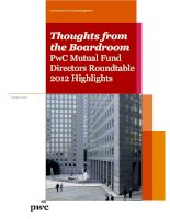 Tài liệu THOUGHTS FROM THE BOARDROOM PWC MUTUAL FUND