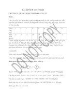 Tài liệu BÀI TẬP MÔN HỌC QTKDI :CHƯƠNG 2- QUẢN TRỊ QUÁ TRÌNH SẢN XUẤT pdf