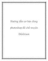 Tài liệu Hướng dẫn cơ bản dùng photoshop để chế truyện Đôrêmon docx