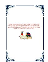 Tài liệu THỰC TRẠNG QUẢN LÝ NHÀ NƯỚC VỀ CÔNG TÁC THANH TRA, NHỮNG VẤN ĐỀ CẦN TẬP TRUNG GIẢI QUYẾT ĐỂ TĂNG CƯỜNG HIỆU QUẢ QUẢN LÝ NHÀ NƯỚC VỀ CÔNG TÁC THANH TRA. pdf
