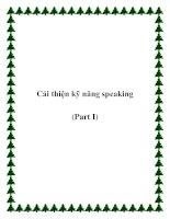 Tài liệu Cải thiện kỹ năng speaking (Part I) potx