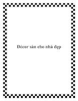 Tài liệu Décor sàn cho nhà đẹp doc