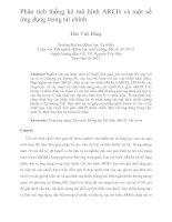 Phân tích thống kê mô hình ARCH và một số ứng dụng trong tài chính