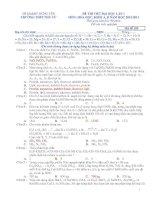 Tài liệu ĐỀ THI THỬ ĐẠI HỌC LẦN 1 MÔN: HÓA HỌC, KHỐI A, B NĂM HỌC 2012-2013 potx