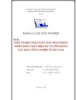 Tài liệu Luận văn: MỘT SỐ BIỆN PHÁP THÚC ĐẨY HOẠT ĐỘNG TRIỂN KHAI THỰC HIỆN DỰ ÁN FDI TRONG CÁC KHU CÔNG NGHIỆP Ở VIỆT NAM potx