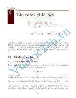 Tài liệu Chuyên đề số học : Bài toán chia hết doc