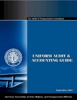 Tài liệu Uniform Audit and Accounting Guide: For Audits of Transportation Consultants' Indirect Cost Rates pptx