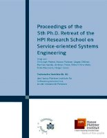 Tài liệu proceedings of the 5th ph d retreat of the hpi research school 5 ppt