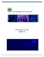 Tài liệu STATE BANK OF PAKISTAN STRATEGIC PLAN 2005-10 docx