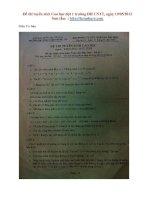 Đề thi tuyển sinh Cao học đợt 1 trường ĐH CNTT, ngày 19/05/2012