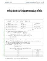 Tài liệu Tuyển tập công thức và kỹ xảo tính nhanh trong hóa học phổ thông pot