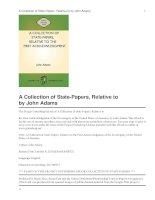 Tài liệu A Collection of State-Papers, Relative to the First Acknowledgment doc