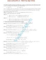 Tài liệu GTLN và GTNN của hàm số với diều kiện có nghệm của một phương trình, bất phương trình pdf