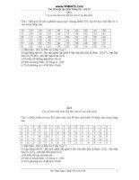 Giáo án luyện tập thống kê 10