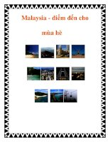 Tài liệu Malaysia - điểm đến cho mùa hè pdf