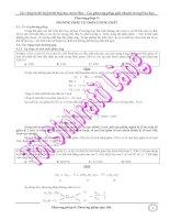 Các phương pháp giải nhanh trong hóa học - Phương pháp tự chọn lượng chất