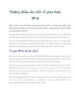 Tài liệu Những điều cần biết về giao thức IPv6 pdf
