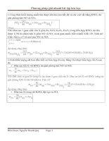 Phương pháp giải nhanh bài tập hóa học