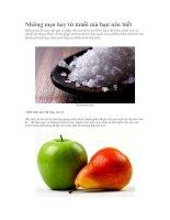 Những mẹo hay từ muối mà bạn nên biết