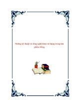 Tài liệu Những kỹ thuật và công nghệ được sử dụng trong sản phẩm Ming. potx