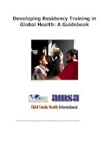 Tài liệu Developing Residency Training in Global Health: A Guidebook ppt