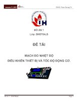 Tài liệu Mạch đo nhiệt độ điều khiển thiết bị và tốc độ động cơ docx