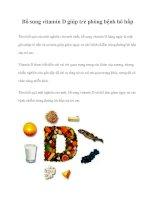 Tài liệu Bổ sung vitamin D giúp trẻ phòng bệnh hô hấp docx